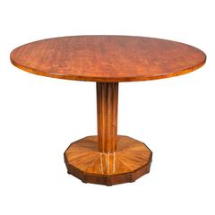 Biedermeier Walnut Tilt-Top Side Table