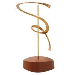 Russell Secrest Bronze Kinetic Sculpture, USA, 1970s, Signed