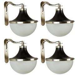 1960s Sergio Mazza 'Pi' Wall Lights for Artemide
