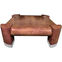 Lorin Marsh Goatskin Coffee Table in the Style of Karl Springer
