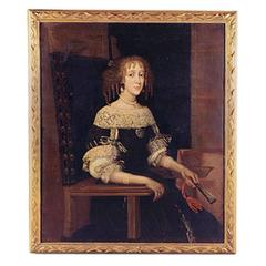 Portrait of a Lady with Pearls, Queen Henrietta Maria Wife of Charles I