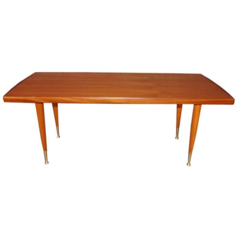 Swedish mid century modern teak coffee table by alberts of tibro at 1stdibs Modern teak coffee table