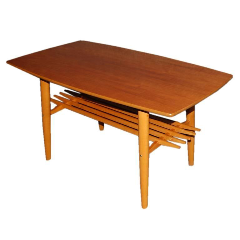 Mid Century Coffee Table And End Tables: Swedish Mid-Century Modern Teak Coffee Or End Table At 1stdibs