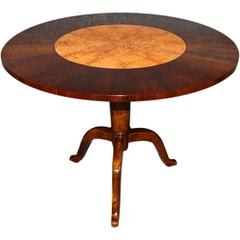 Swedish Art Deco End Table of Rosewood, Carpathian Elm and Birch