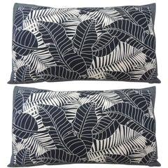 Japanese Indigo Batik Bolster Decorative Pillows
