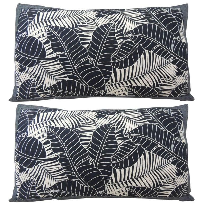 Decorative Pillows Indigo : Japanese Indigo Batik Bolster Decorative Pillows For Sale at 1stdibs