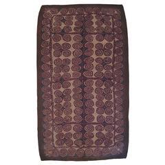 Large Turkmen/Uzbek Felt Carpet