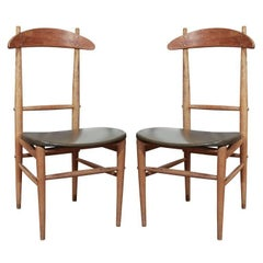 Set of Six Oak Chairs