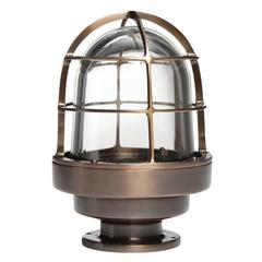 Caged Bronze Flush Mount Light