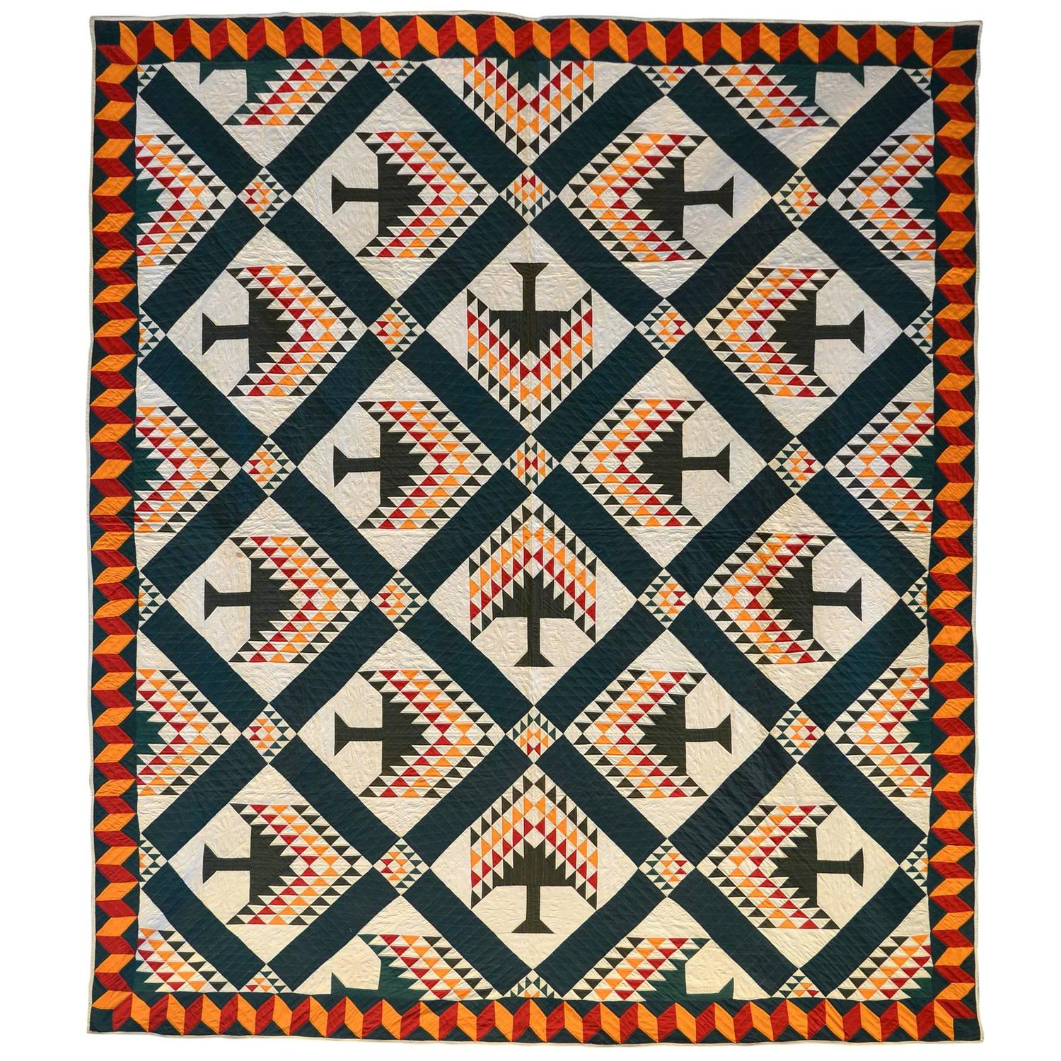 Tree Of Paradise Quilt At 1stdibs