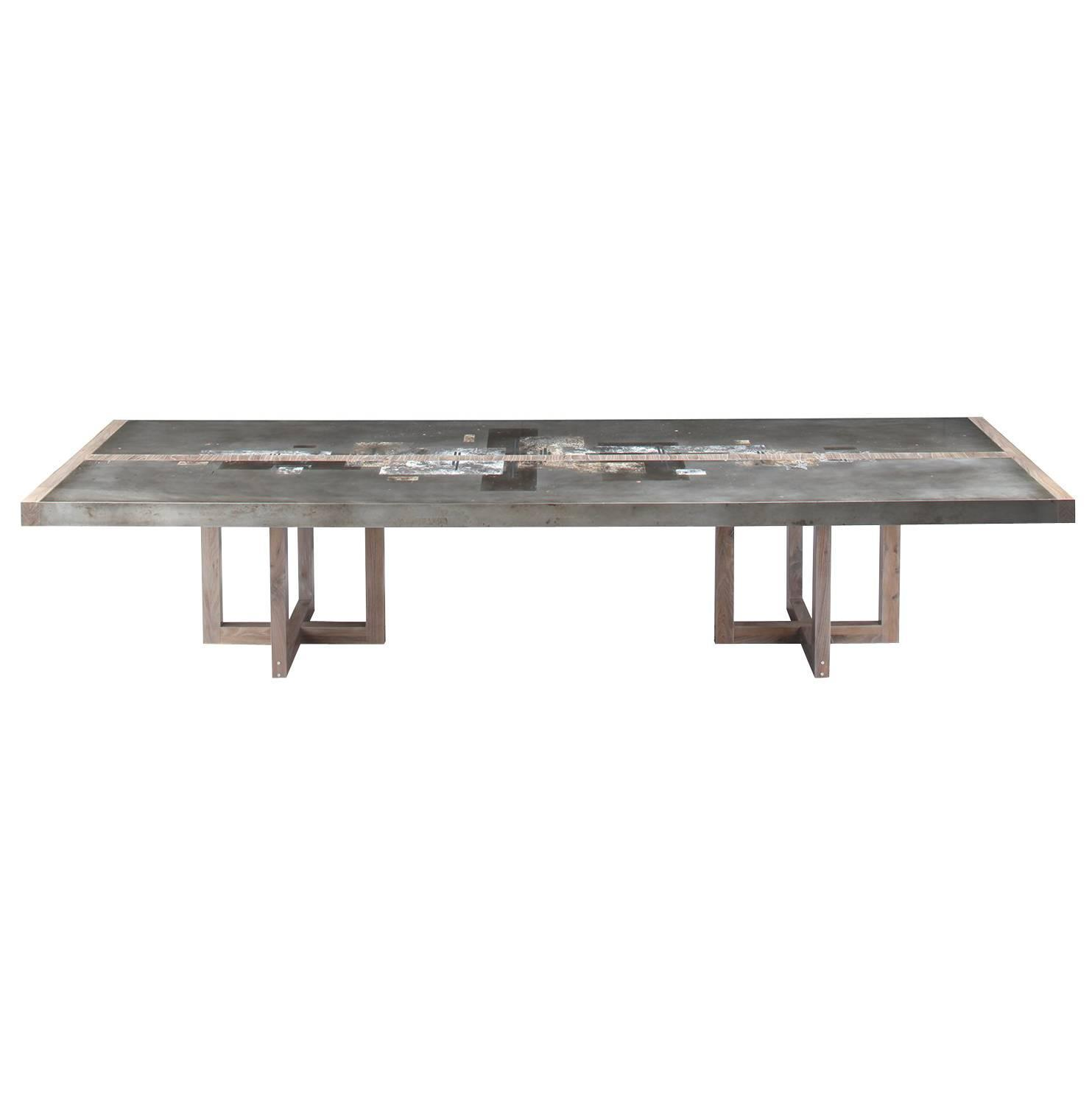 Zinc Dining Table French Contemporary Dining Room Tables 822 For Sale At 1stdibs