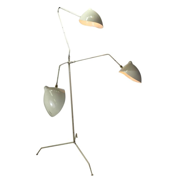 In the style of serge mouille three arm floor lamp at 1stdibs Serge mouille three arm floor lamp