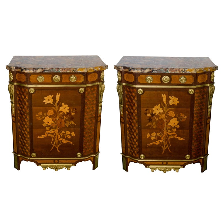Pair of Side Cabinets by 'Linke' For Sale