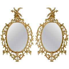 Pair of 19th Century Chippendale Style Mirrors