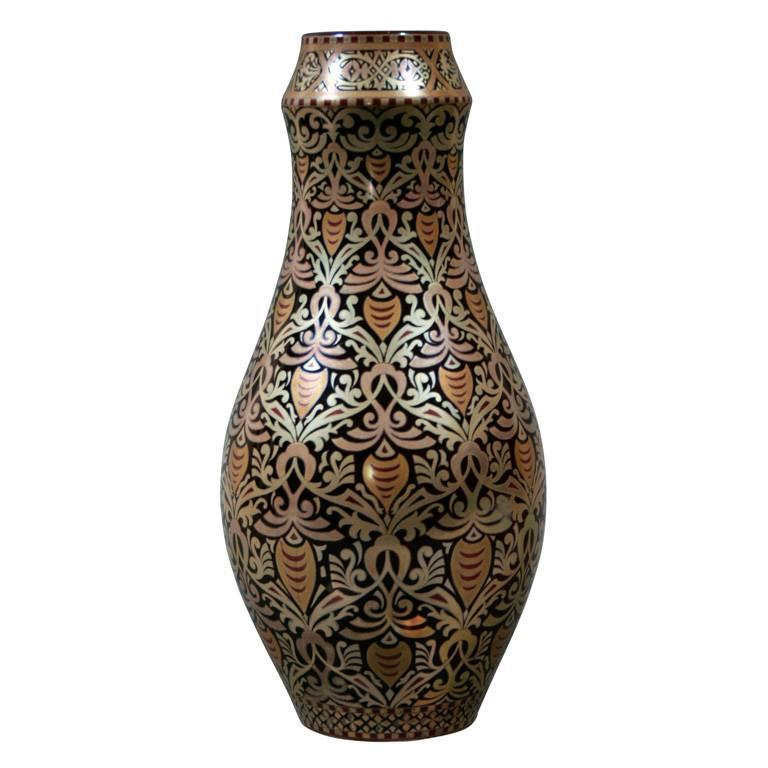 Hungarian Eosin Glazed Vase by Zsolnay, Late 19th Century 1