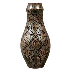 Hungarian Eosin Glazed Vase by Zsolnay, Late 19th Century