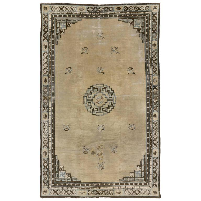 antique chinese peking rug with art deco style for sale at. Black Bedroom Furniture Sets. Home Design Ideas