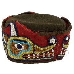 Native American Beaded Head Ring, Kwakwaka'wakw 'Kwakiutl', Late 19th Century