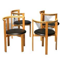 Set of Four Niels Jørgen Haugesen String Chairs