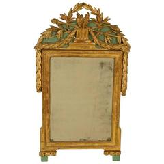 18th century painted and gilt wood mirror