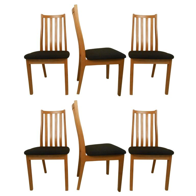 Mid Century Furniture Dining Room: Six Danish Midcentury Dining Chairs, Tangso Mobler