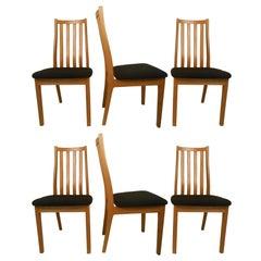 Six Danish Midcentury Dining Chairs, Tangso Mobler, Boliginvenvar, Denmark