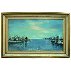 Marine Oil Canvas Painting Noted French Artist Maurice Buffet