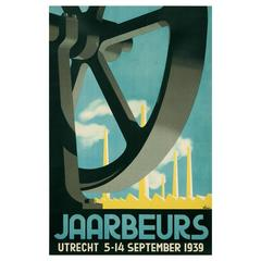 """Jaarbeurs,"" a Dutch Art Deco Period Event Poster, 1939"