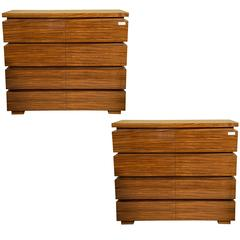 Pair of Allison Paladino for E J Victor Linear Chests