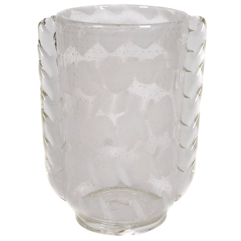 Tall Italian Blown Glass Vase by Barovier, Seguso & Ferro, circa 1933-1937 1