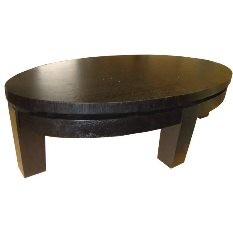 Oval Rift Oak Coffee Table For Sale At 1stdibs