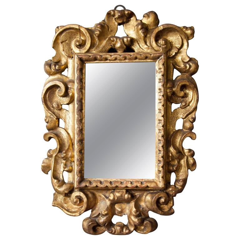 Italian baroque giltwood mirror for sale at 1stdibs for Italian baroque mirror