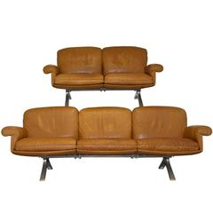 Vintage De Sede DS 31 Sofa and Loveseat, 1970s