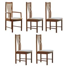 Set of Five Benny Linden Teak Dining Chairs
