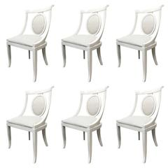 Set of 6 Lacquer Dining Chairs