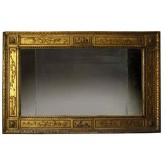 Italian Neoclassical Giltwood Mirror