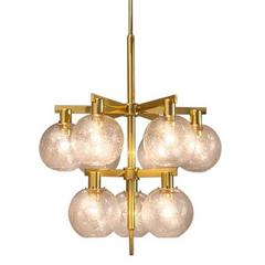 Large Chandelier with Nine Bulbs by Hans Agne Jakobsson