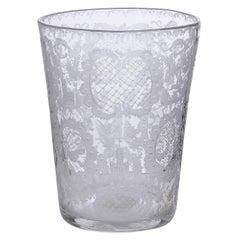Chrystal Netherland Old Vase, Finely Engraved