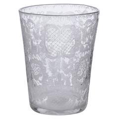 Chrystal Netherland old Vase. finely Engraved
