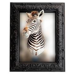 Mirror with a Real Zebra Head