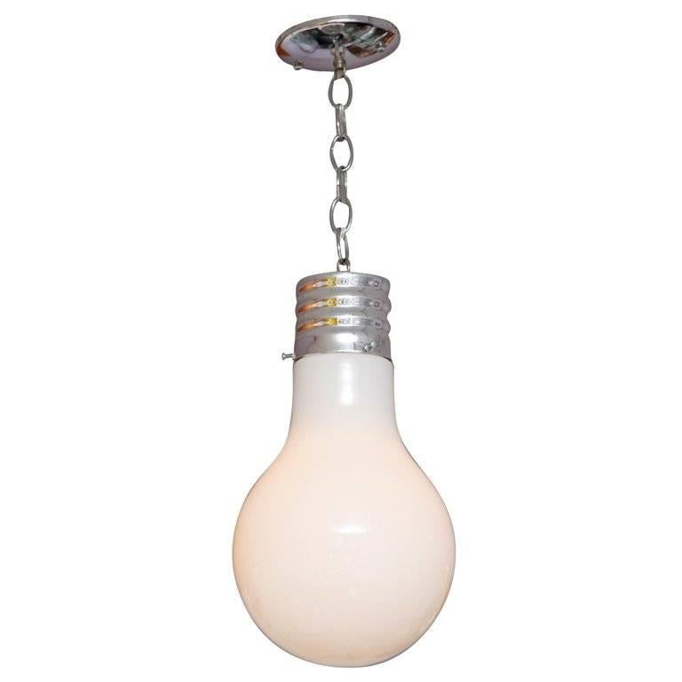 Lighting Pendant Lightbulb Vintage Restored Rewired For Sale