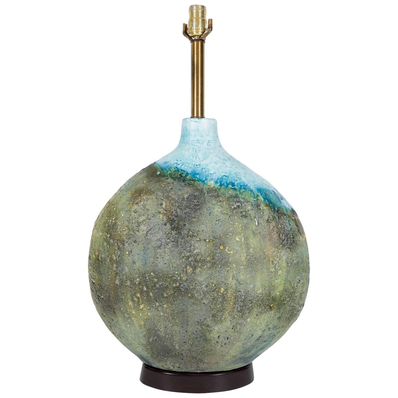 Handmade Ceramic Lamps : Italian mid century marcello fantoni handmade ceramic lamp