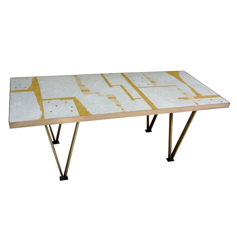 1958 Californian Studio Mosaic Tile Coffee Table For Sale At 1stdibs