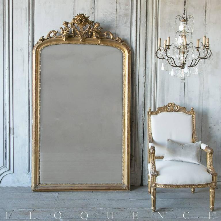 Antique Louis Xv French Gilt Mirror Circa 1860 At 1stdibs