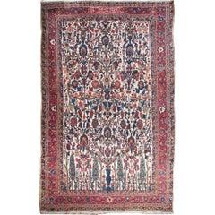 Antique circa 1890 Persian Baktiari Rug