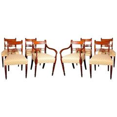 Set of Eight Federal Chairs