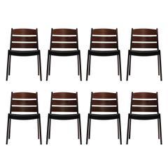 Steffan Larsen for Gustav Bertelsen Brazilian Rosewood Dining Chairs