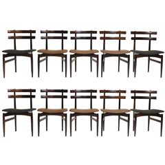 Poul Hundevad Sculpted Rosewood Dining Chairs