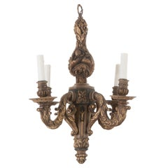 French 19th Century Louis XVI Wooden Chandelier
