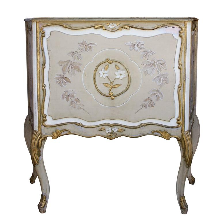 Large Wood Jardiniere Decorated with Chinoiseries For Sale